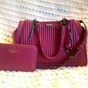 RARE Coach dreamer purse and wallet set